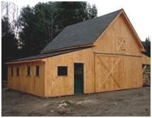 Traditional Barn with Post-Frame Structure