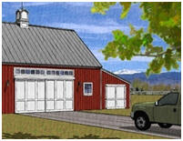 free garage plans detached one two and multi car garages car barn plans