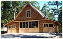 Custom Craftsman Style Coach House Garage
