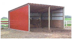Run In Shed or Loafing Shed Building Plans