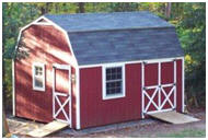 Barn Style, Gambrel Roof Shed Plans