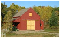Small Tractor Barn Built in Maine