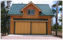 Colorado Pole-Frame Garage with Loft