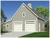 Free Two-Car garage Plans with Loft and Workshop