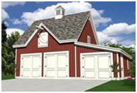 Free Three-Car Barn with Loft
