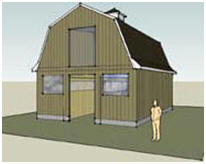 Gambrel Rook Horse Barn Plans