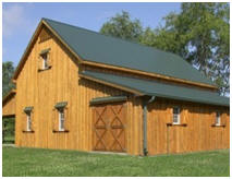 Pole-Frame Horse Barn Blueprints