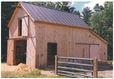 Small Pole-Frame Sheep Barn