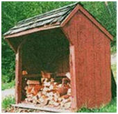 Free Post and Beam Fire Wood Shed