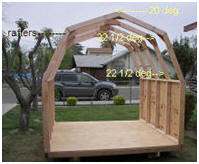 Gambrel Roof Shed Building Frame